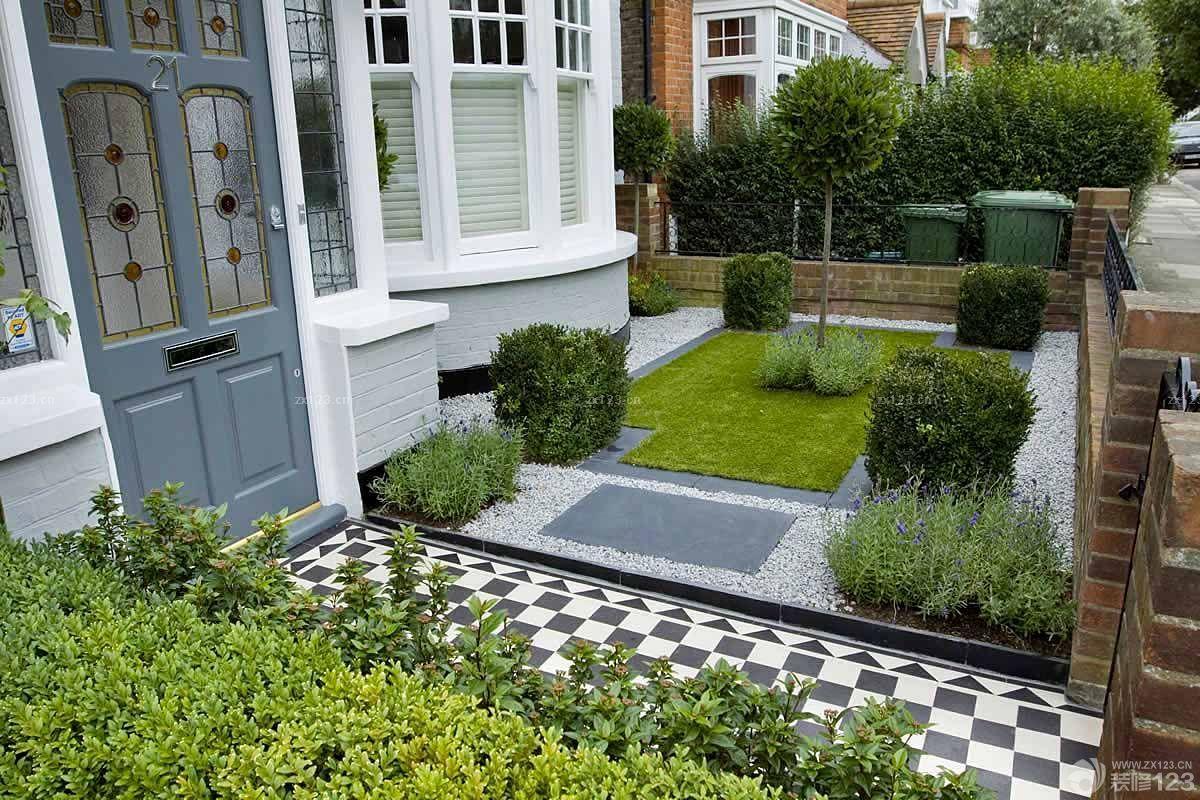 欧式别墅庭院花园绿化设计图片