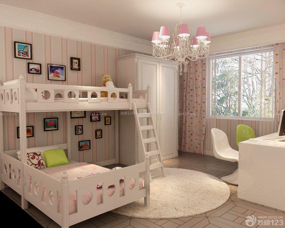 2015儿童房子高低床装修设计图片大全