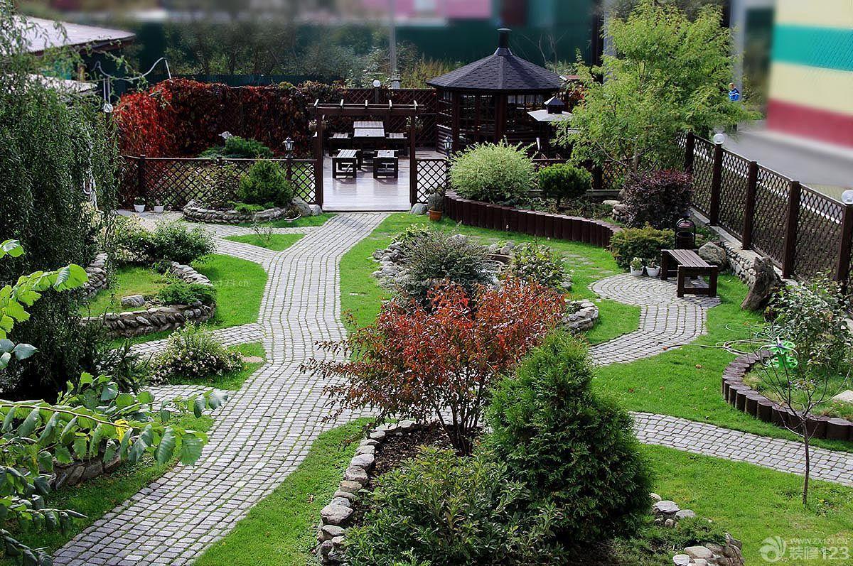 庭院别墅花园设计效果图图片
