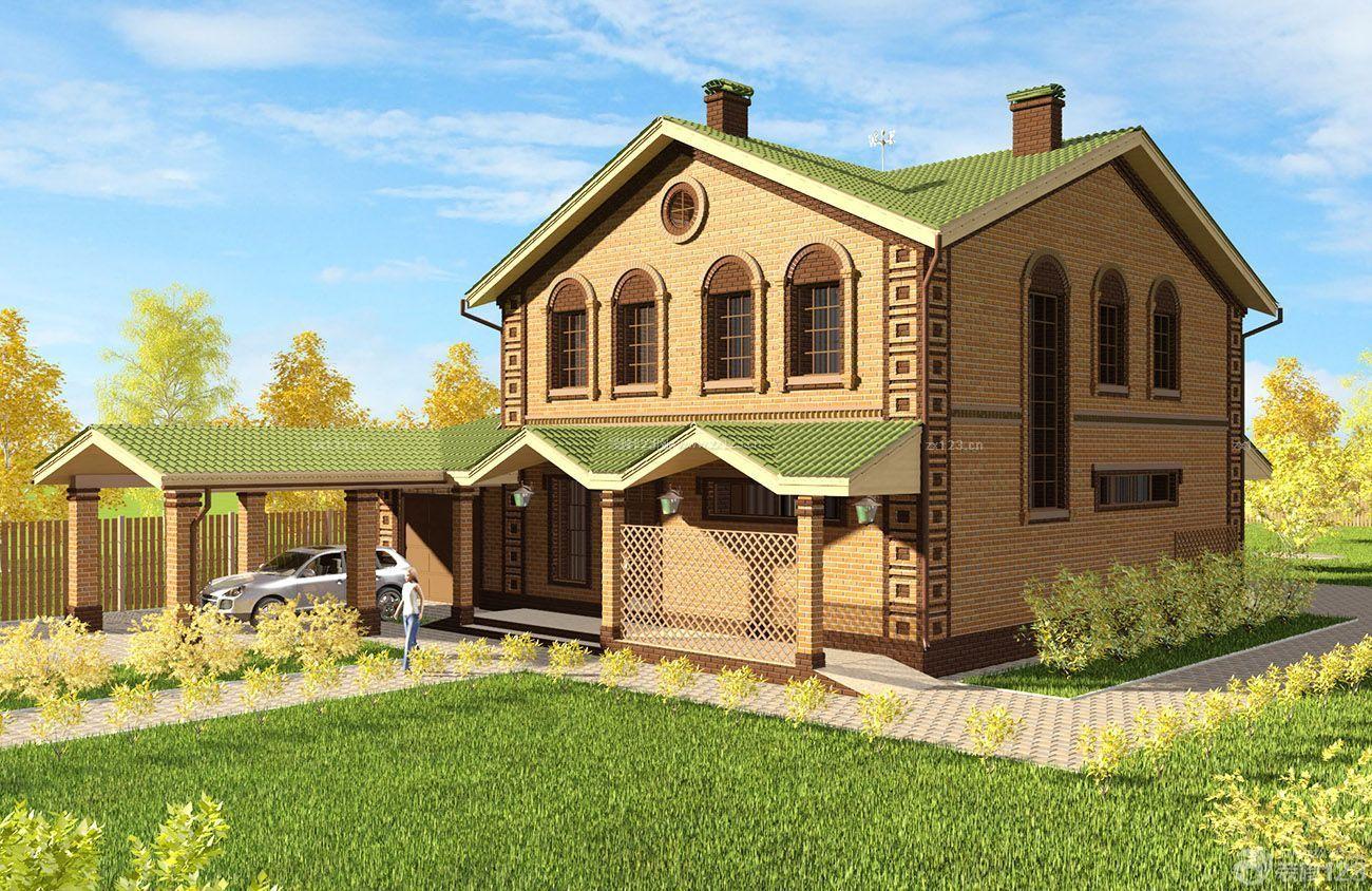 农村二层小别墅室外新古典装修设计图纸图片