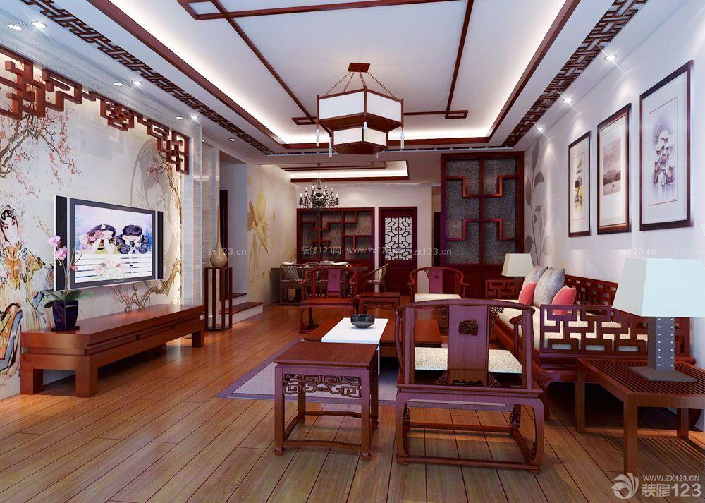 中式家装风格房子装修设计图片大全80平