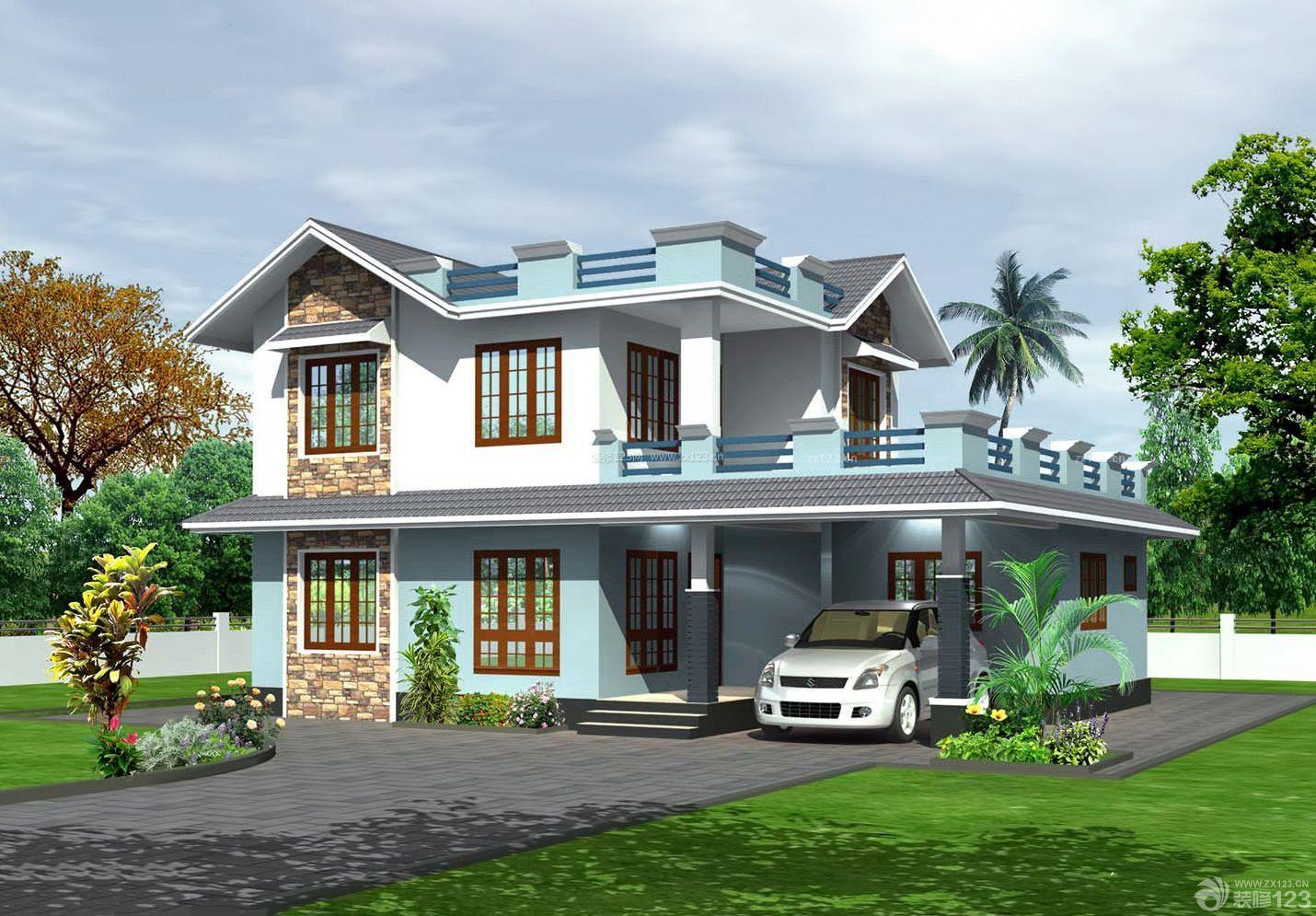 花园图纸电气二层效果设计图片_装修123庭院是什么意思农村中pq别墅图片