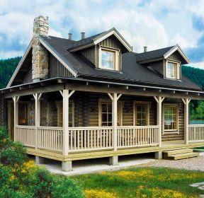 農村二層木屋小別墅建造圖紙-每日推薦