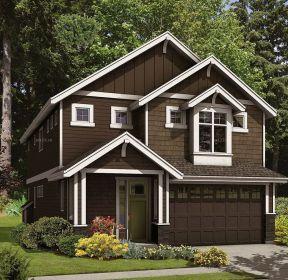 農村二層小木屋別墅建造圖紙-每日推薦