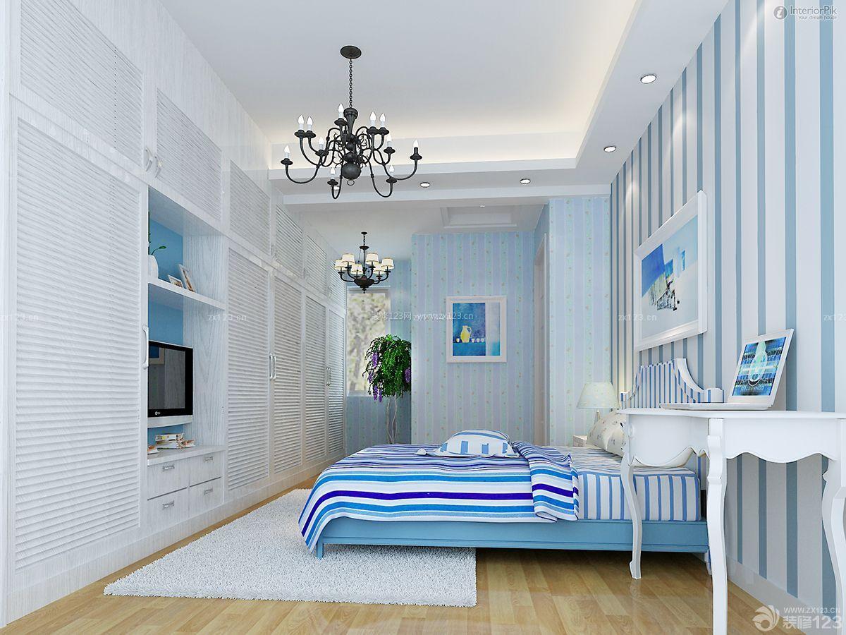 精美房子条纹壁纸装修设计图片大全90方三房