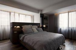 北歐家居設計臥室床頭背景墻圖片