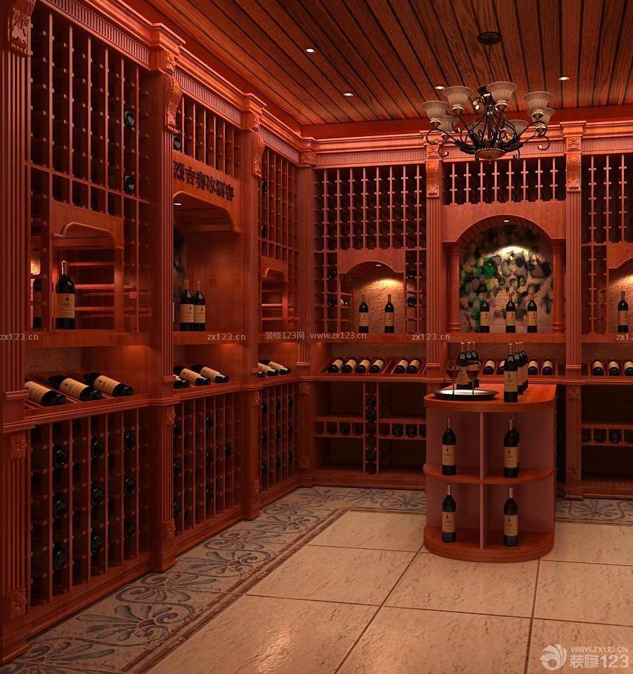 别墅酒窖地下室设计案例图片