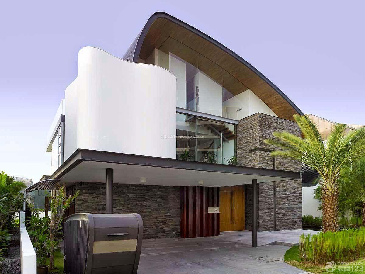 现代别墅厨房建筑外观设计效果图v别墅开放式手别墅乡村图片