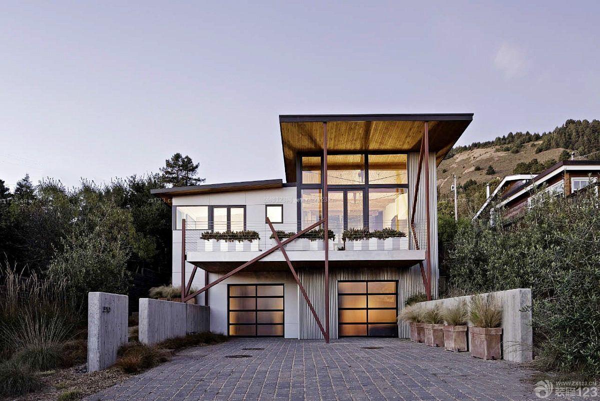 山地乡村别墅建筑造型设计图片