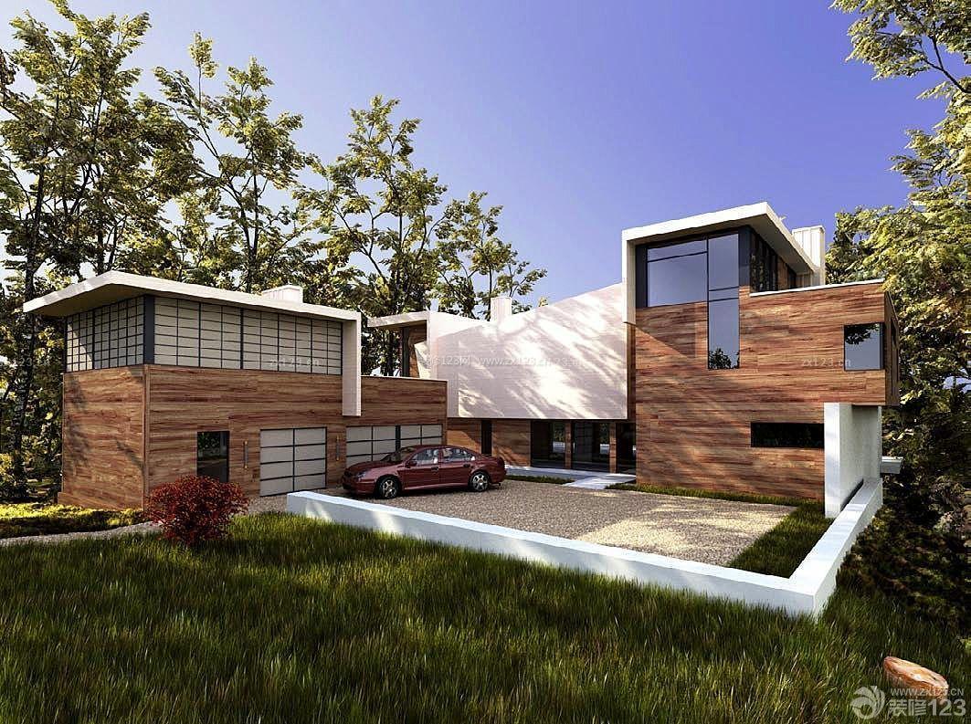 乡村小别墅建筑外观设计效果图花园别墅朱帝图片