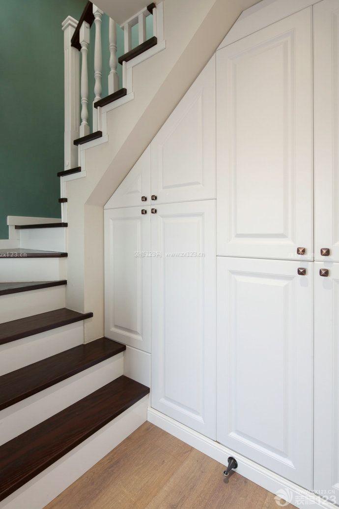 小户型复式楼入墙鞋柜装修效果图图片