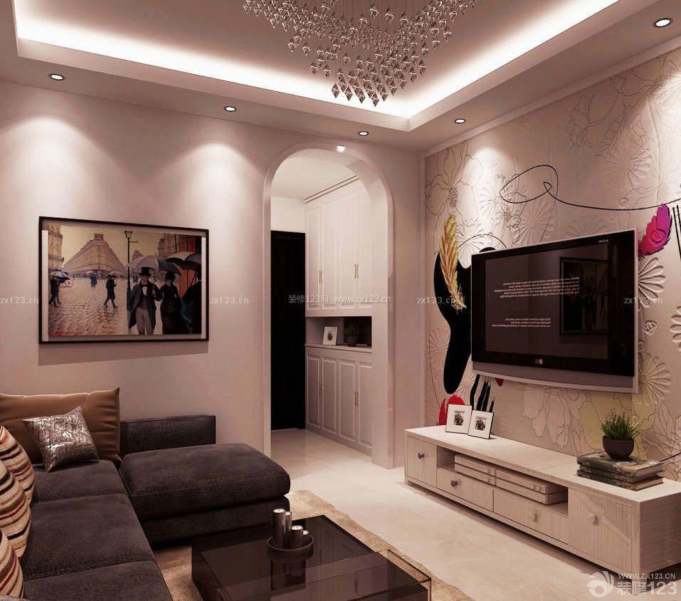 现代风格50平方小户型客厅装修图片