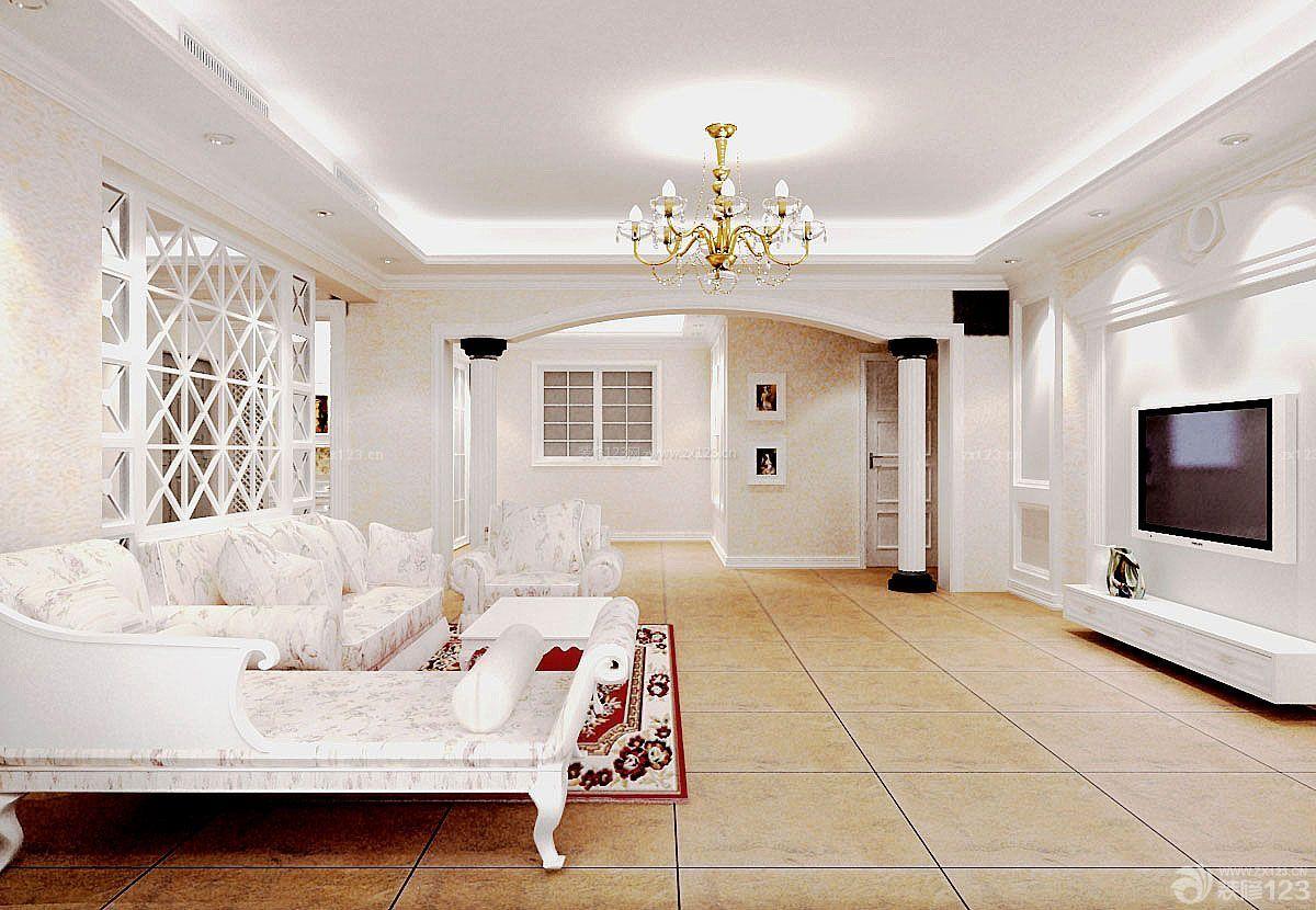 农村别墅室内欧美客厅装修设计效果图