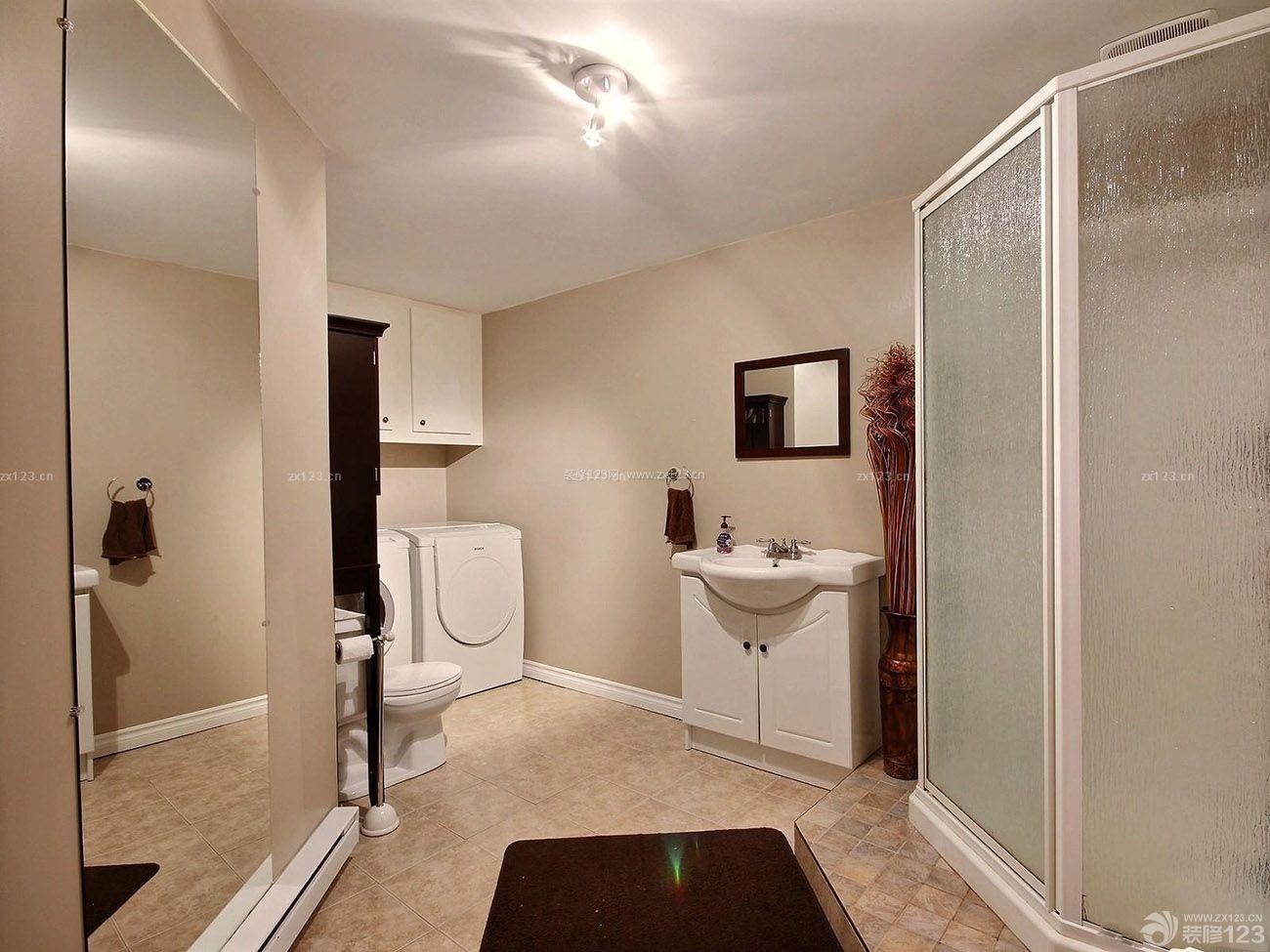 农村别墅室内卫生间浴室设计装修图