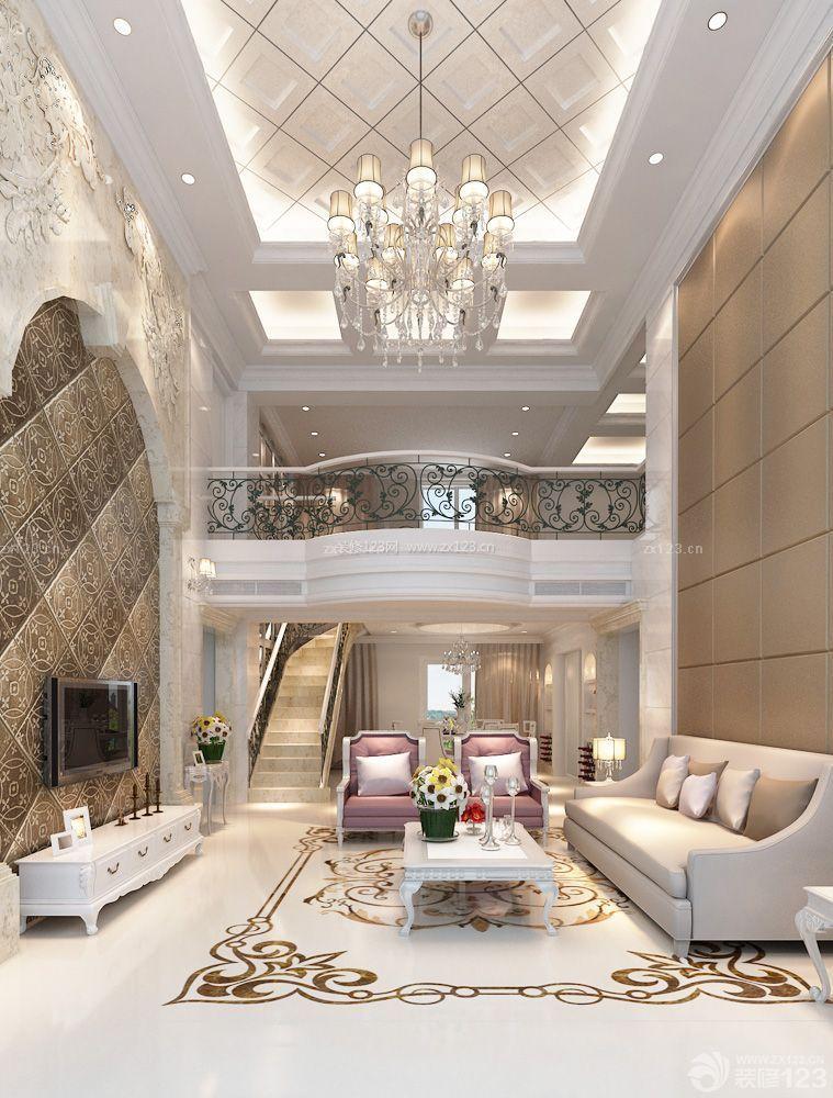 欧式房子客厅墙面装修设计图片大全