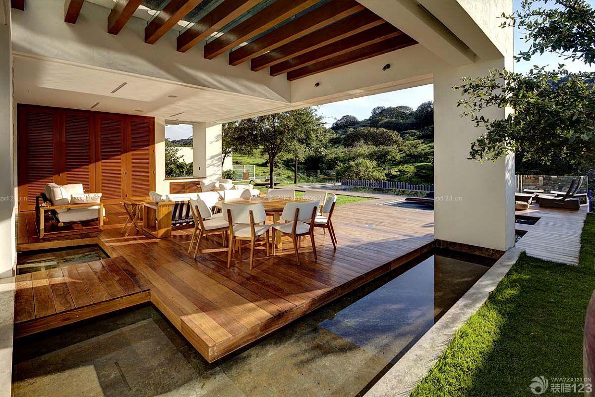 最新美式乡村别墅休闲区布置装修效果图地方大全可海边住100别墅人的图片