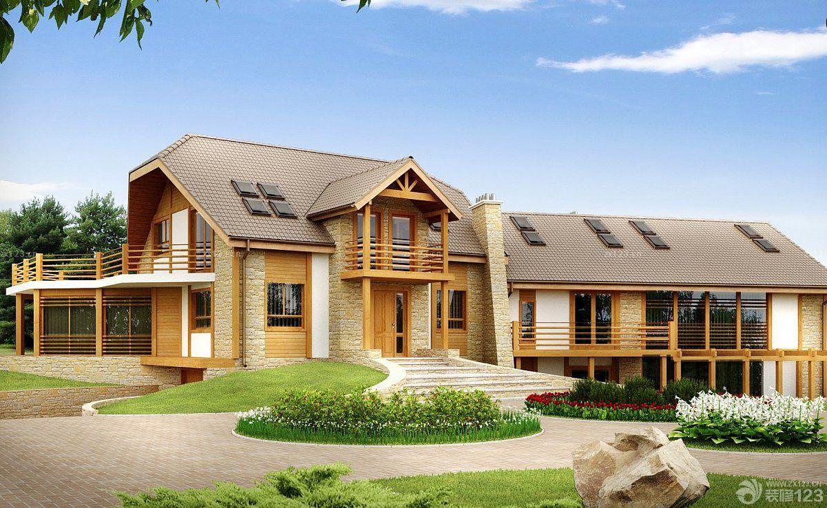 简约新房简洁自然的别墅外观设计装修效果图#_风景520