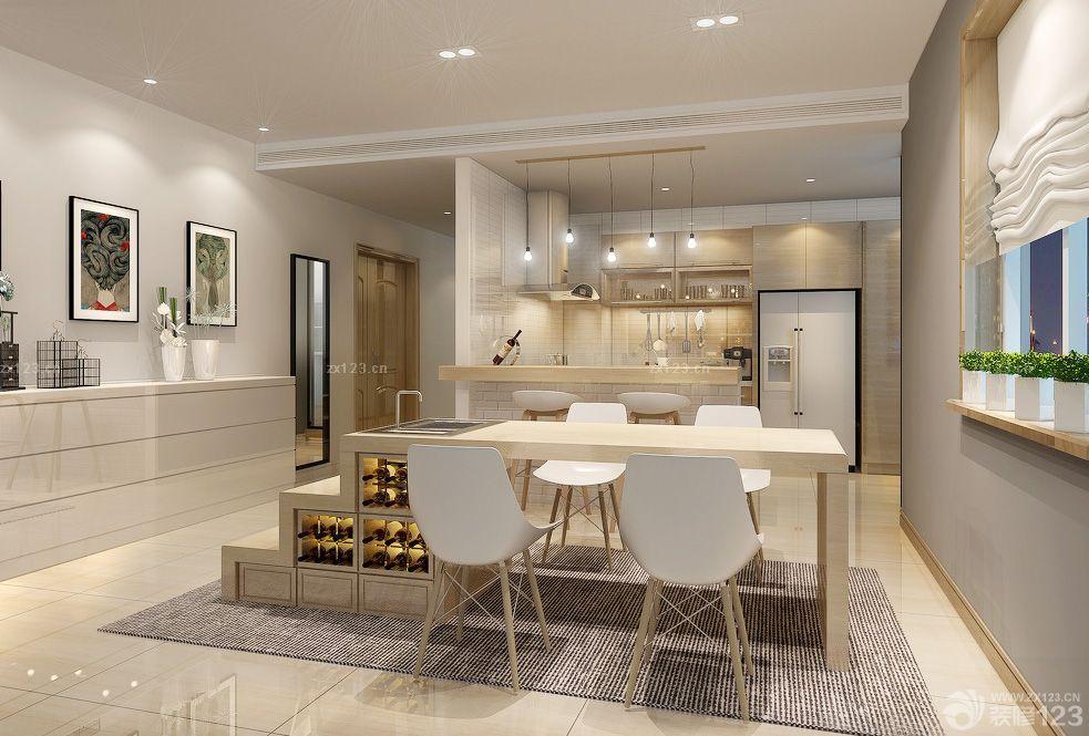 联体别墅家装餐厅设计效果图