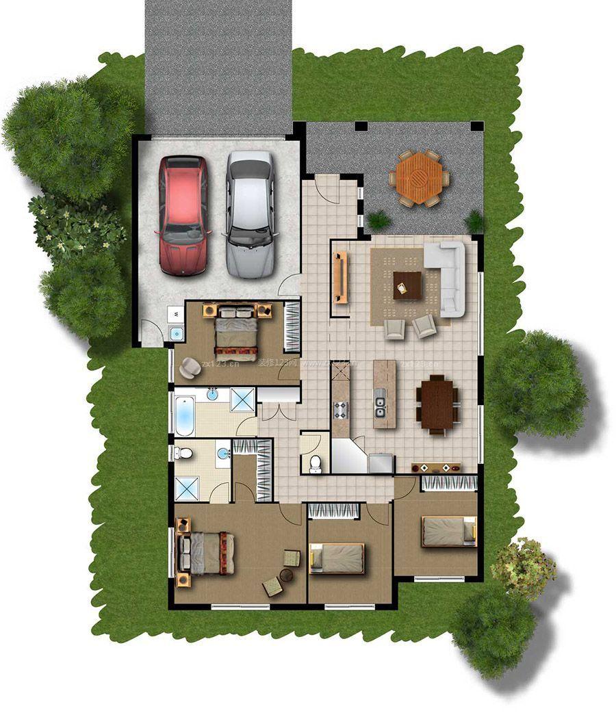 2015农村别墅设计平面图