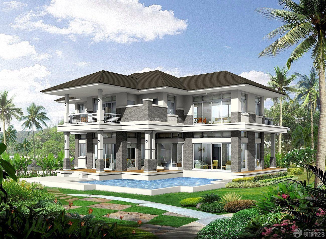 最新欧式豪华别墅外观装修图片大全图片