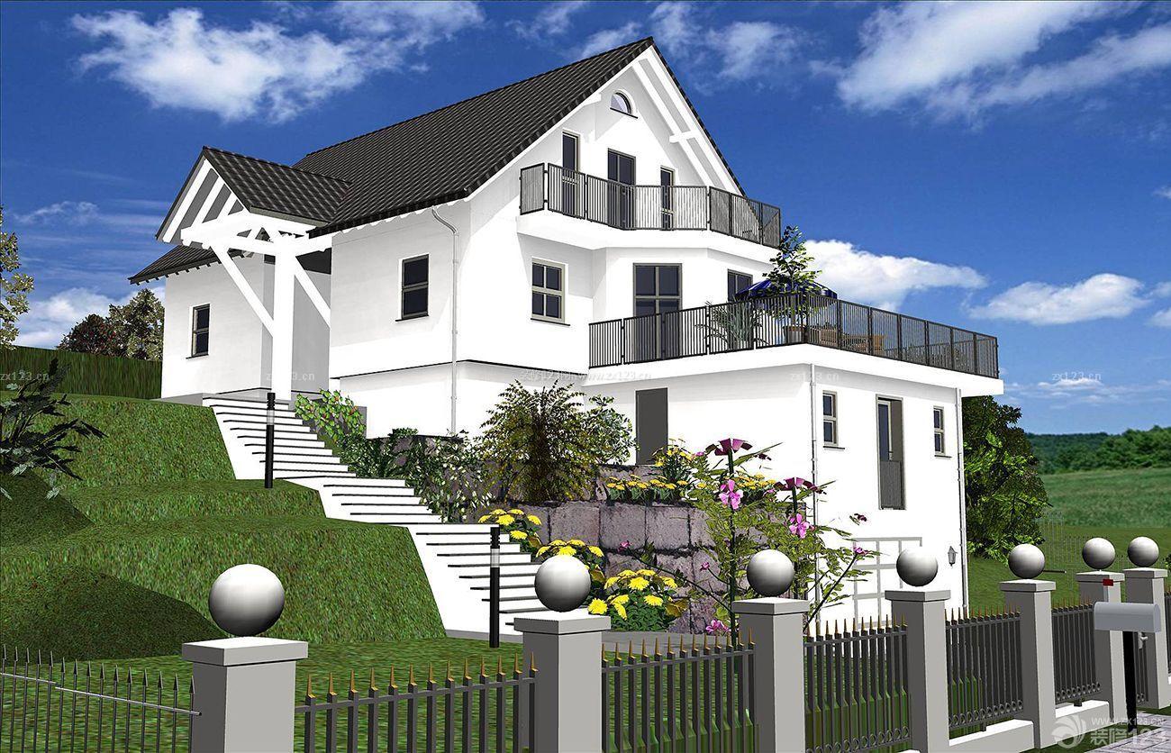 最新美式山地别墅外观设计图片大全