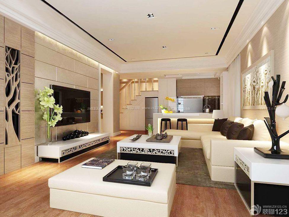 15平米客厅转角沙发装修效果图