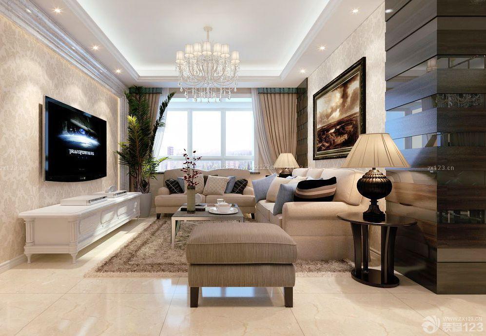 最新15平米客厅组合沙发装修效果图片