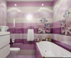 時尚小戶型衛生間紫色墻面裝飾