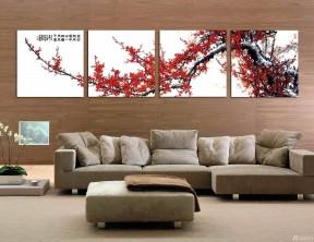 客廳壁畫圖片 咖啡色墻面裝修效果圖片