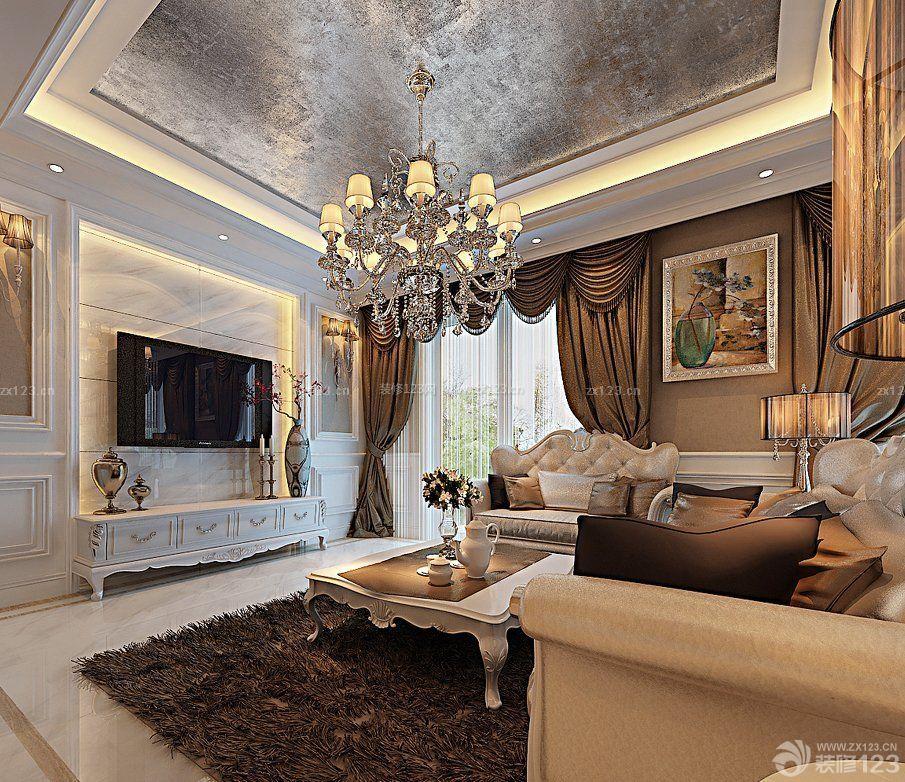 简欧式风格小户型客厅电视墙装修效果图大全2015图片图片
