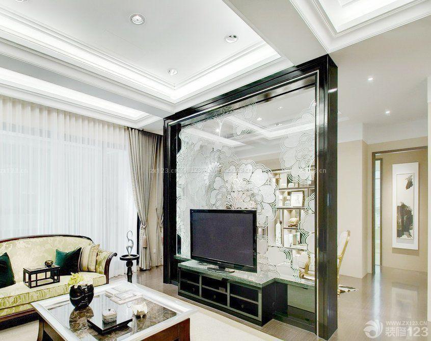 家装客厅有梁吊顶设计装修效果图大全