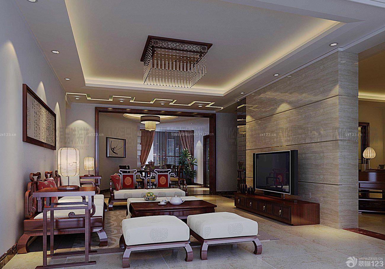 跃层房子客厅中欧混搭风格装修设计图片大全