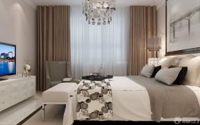 三室兩廳兩衛裝修效果圖 咖啡色窗簾裝修效果圖片