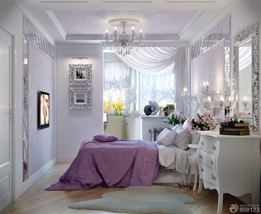 精致小户型欧式卧室吊顶设计装修效果图图片