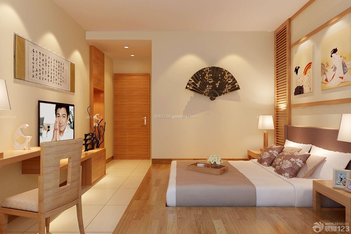 温馨日式小户型卧室设计装修实景图_装修123效果图