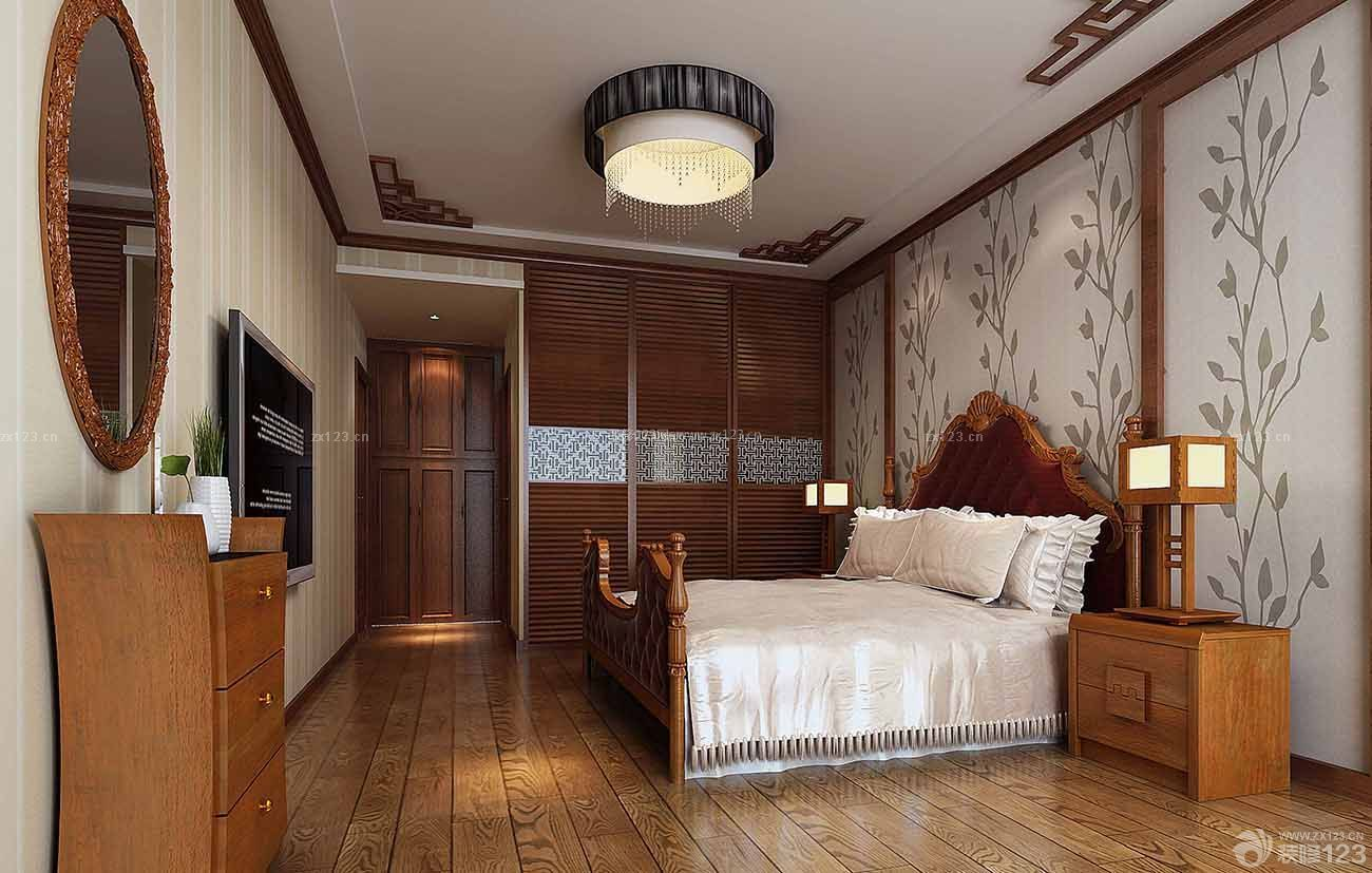 70平房子卧室中式吊顶装修设计图片大全