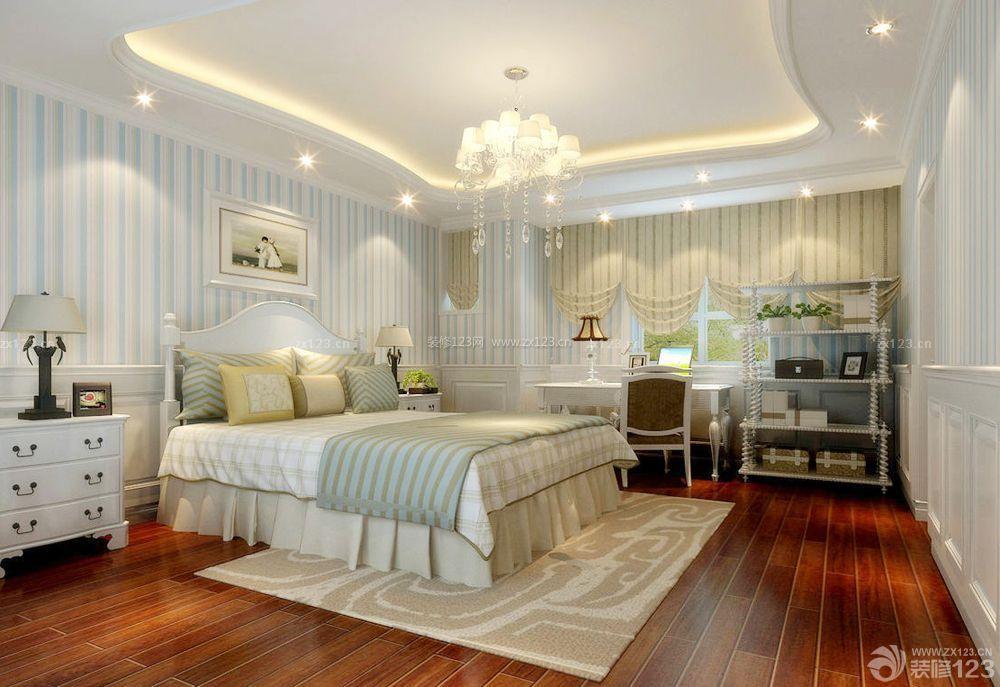 欧式卧室石膏板吊顶装修效果图三室两厅