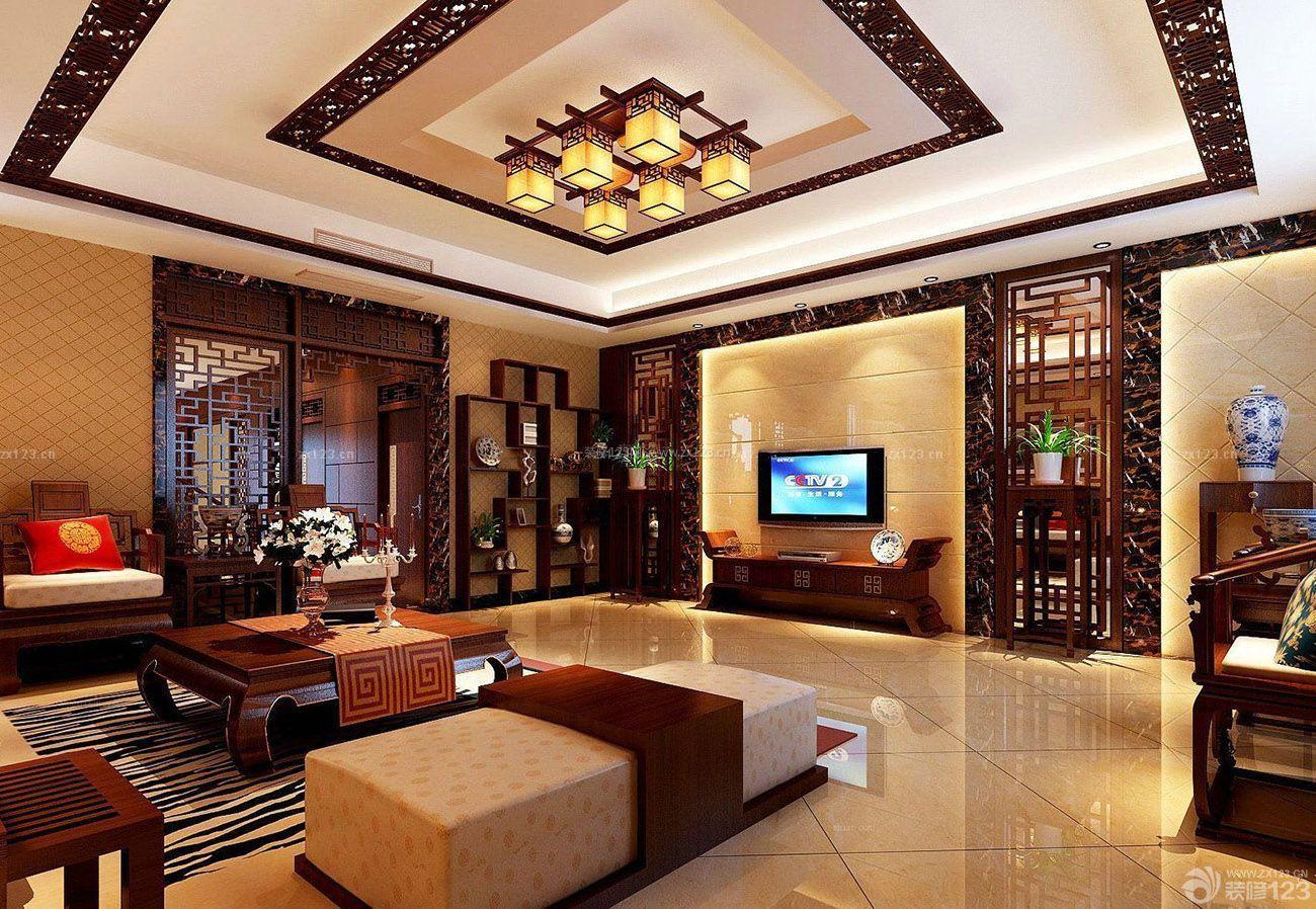 中式房子新古典装修客厅设计图片大全