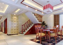 中式餐廳吊燈裝修效果圖三室兩廳