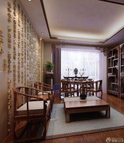 中式房子客廳家具擺放裝修設計圖片大全
