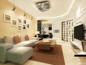 客廳色彩搭配 黃色墻面裝修效果圖片