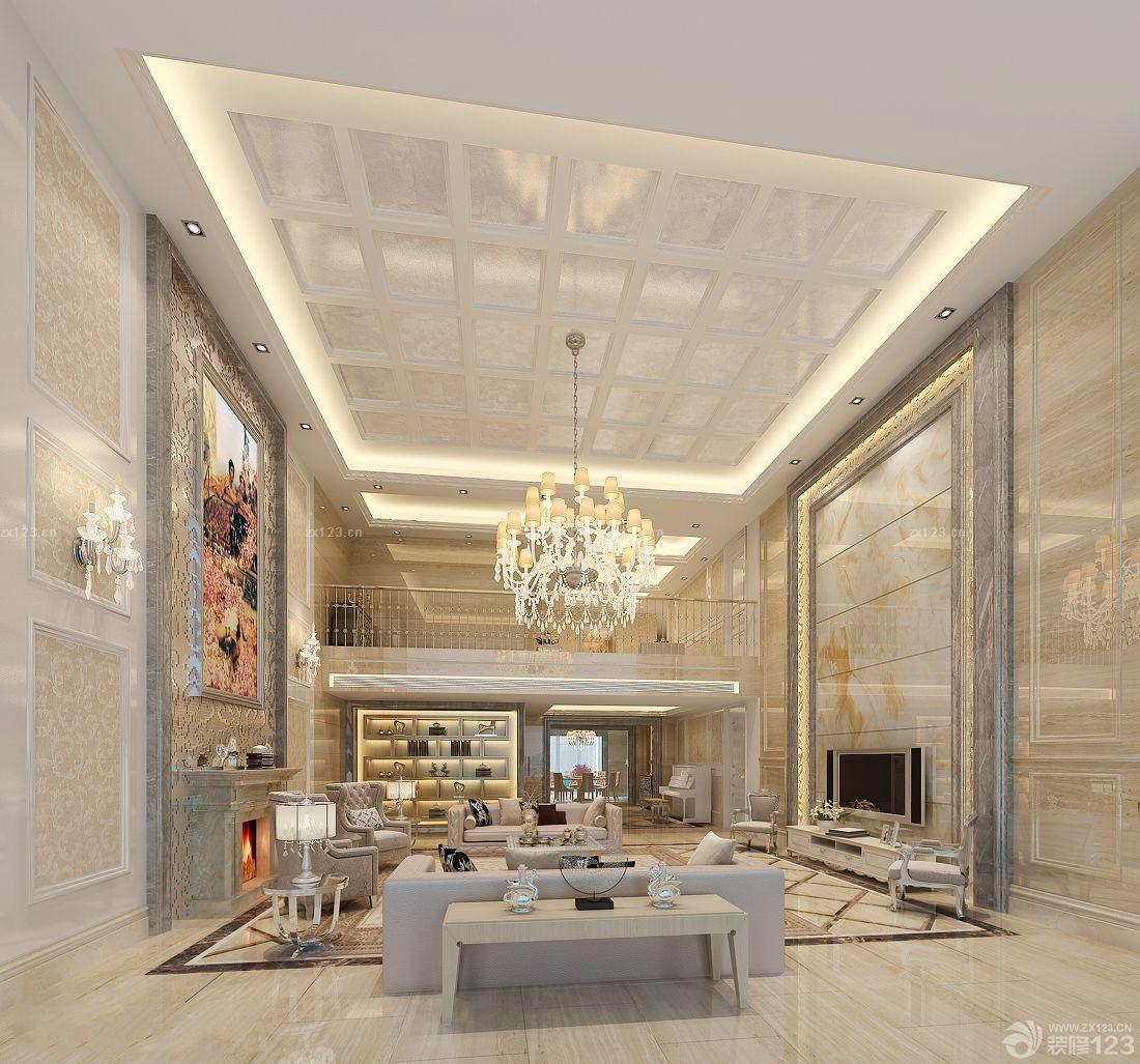 欧式装修效果图大全2015图片客厅吊顶