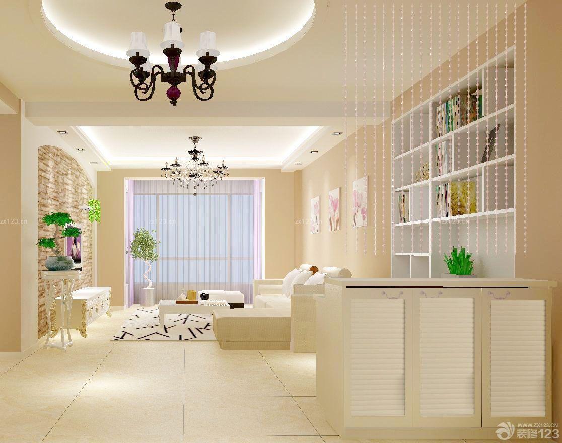 简约现代风格家装客厅花架图片欣赏