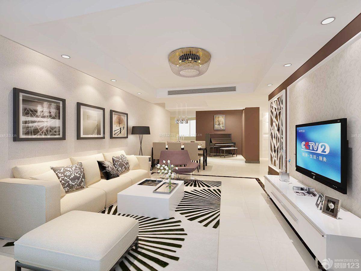 纯白色客厅装修效果图