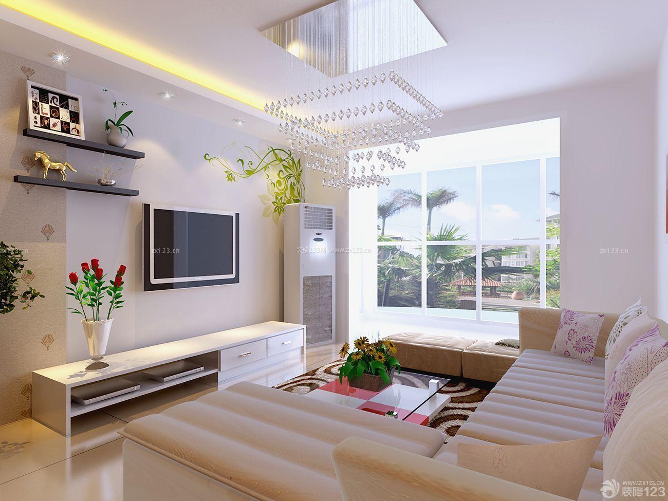 一室一厅现代简约小户型客厅装修样板间