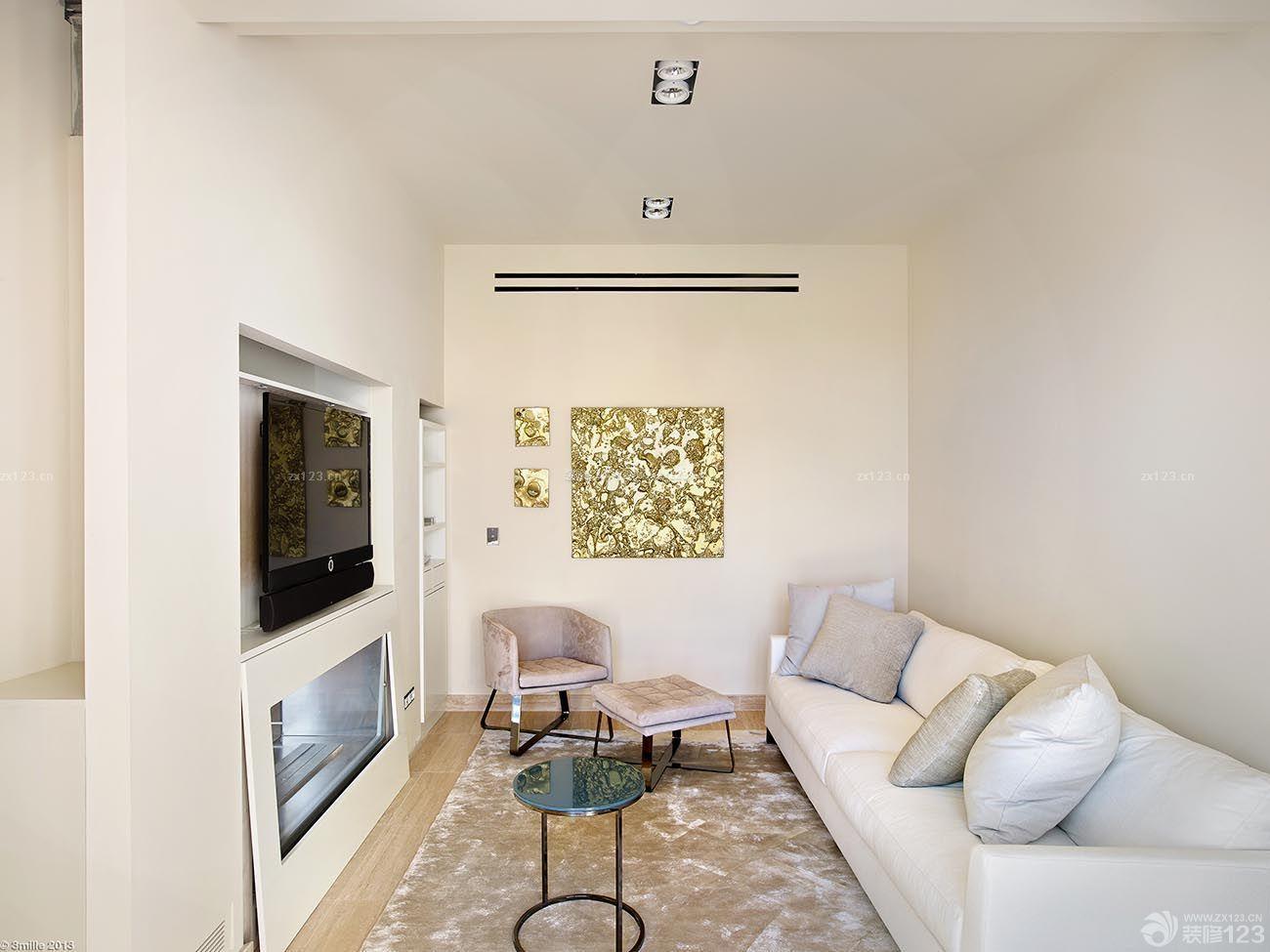 现代一室一厅超小客厅装修样板间