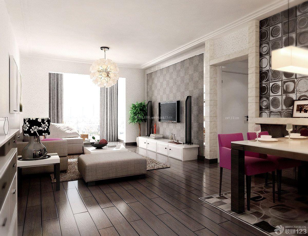 现代欧式家居客厅装修样板间40平方房子