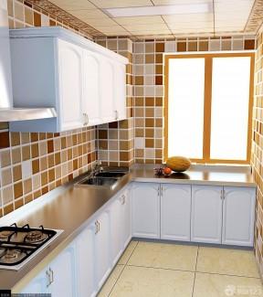 现代装修样板间40平方房子 小厨房设计效果图