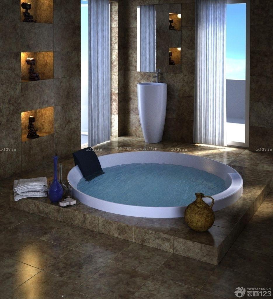 136平米房子豪华浴池装修设计图片大全
