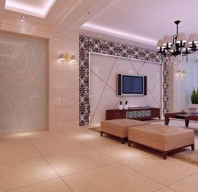 温州欧式家装花纹瓷砖装修效果图三室两厅-每日推荐
